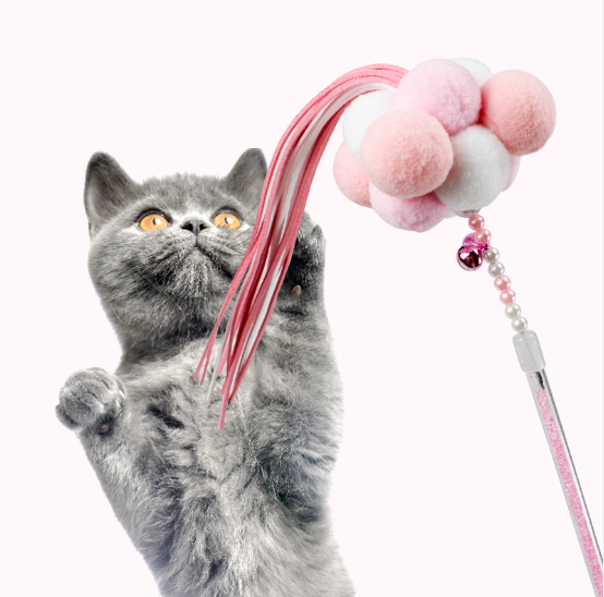 Bulk Products Interactive Cat Toy Cat Toys Feather Wand of Cat Treat Toy