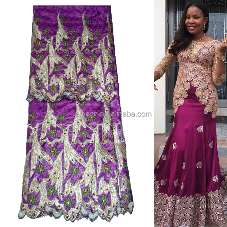 Queency 2017 Fashion Design African Styles Embroidery Bazin Super Riche for Garment