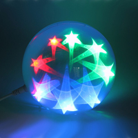 Flashing LED star ball stage decoration for christmas party