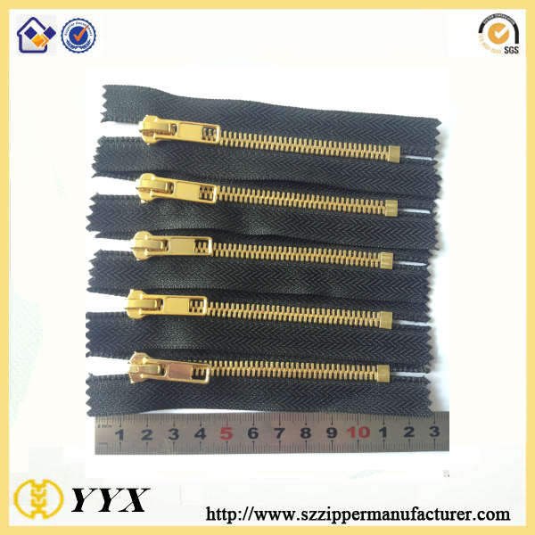 [Quality Assurance] 8# Gold Finish Brass Metal Zipper 11cm Pocket Zipper