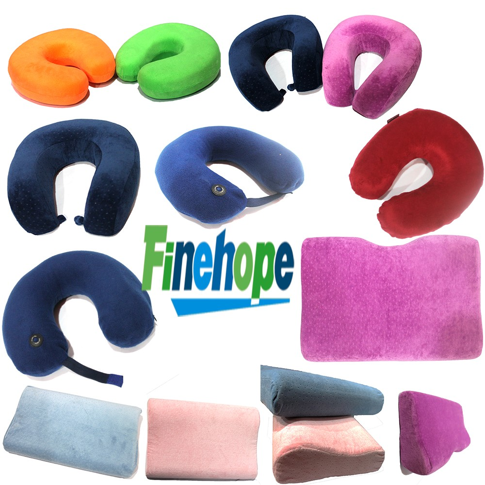 Customize Polyurethane foam OEM best neck memory foam travel pillow