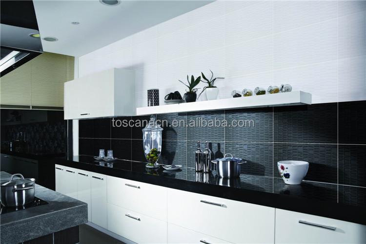 Black And White Checkered Tile Polished Ceramic