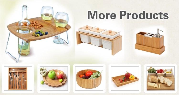 Verstellbare Bambus-Schubladenteiler, 4er Set