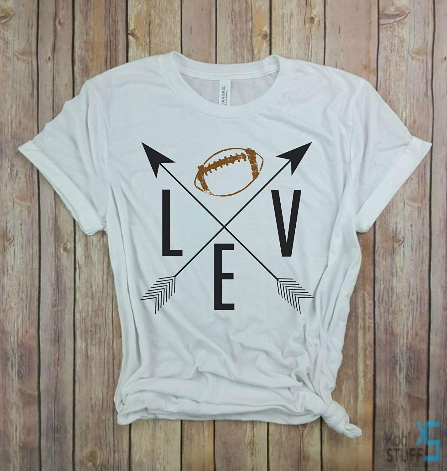 I love Football, Arrows Brown Ball, Game Day Shirt, Laces, Football Tshirt, Football Sunday Shirt, Football Season, Sunday Funday, sorority game day shirt
