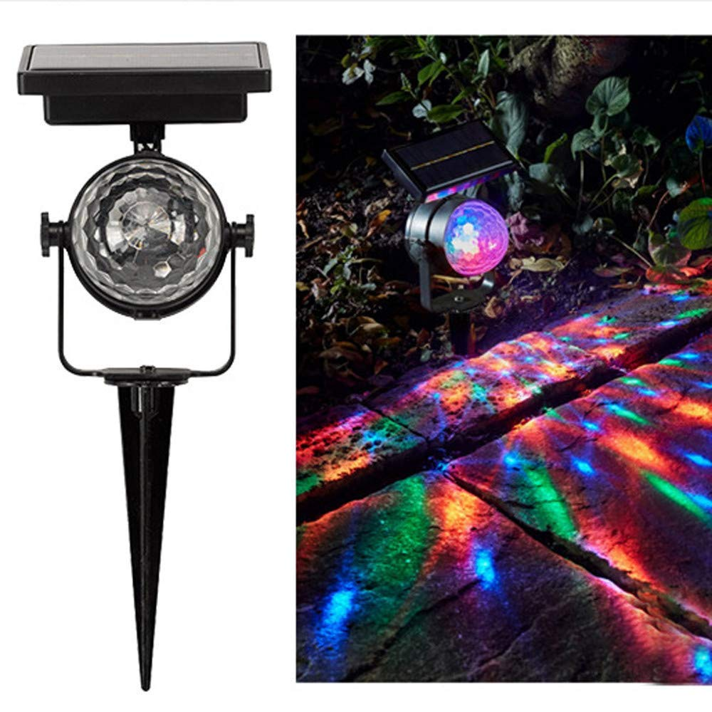 Glumes Solar Buried Lamps Light LED Disco Ball, Waterproof Stage Light 3 Color, for Garden Lawn Yard Fun for Dancing Birthday Party Festival Holiday Christmas Birthday Thanksgiving Gift