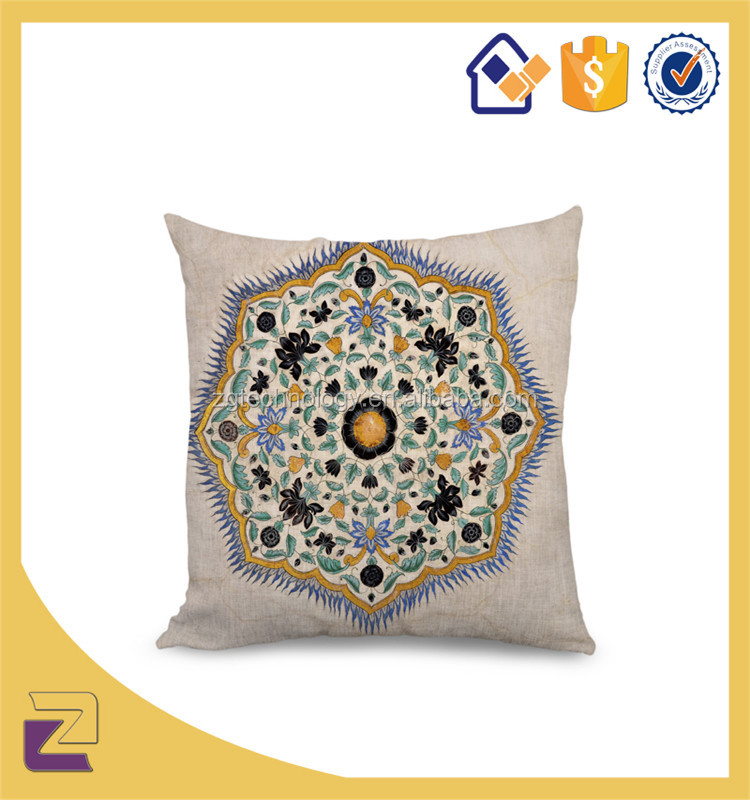 Disposable Embroidery Design Home Decor Cotton Throw Pillow Case Cushion Cover Wholesale