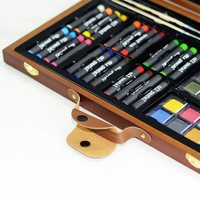 80-Piece Deluxe Wooden Box Art Set for Drawing Painting for Beginner and Serious Artists