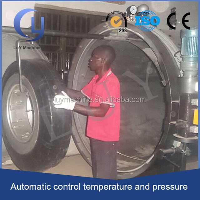 low price honrizontal PLC control temperature used tyre retreading machines