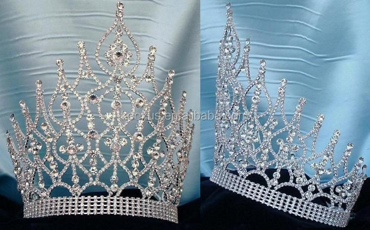 Fashion Enkele Cut Diamond Wedding Tiara Bling Strass Prinses Kroon Groothandel