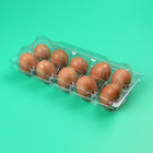 Clamshell 4 6 8 10 12 Compartment Disposable Plastic Egg Tray Egg Container