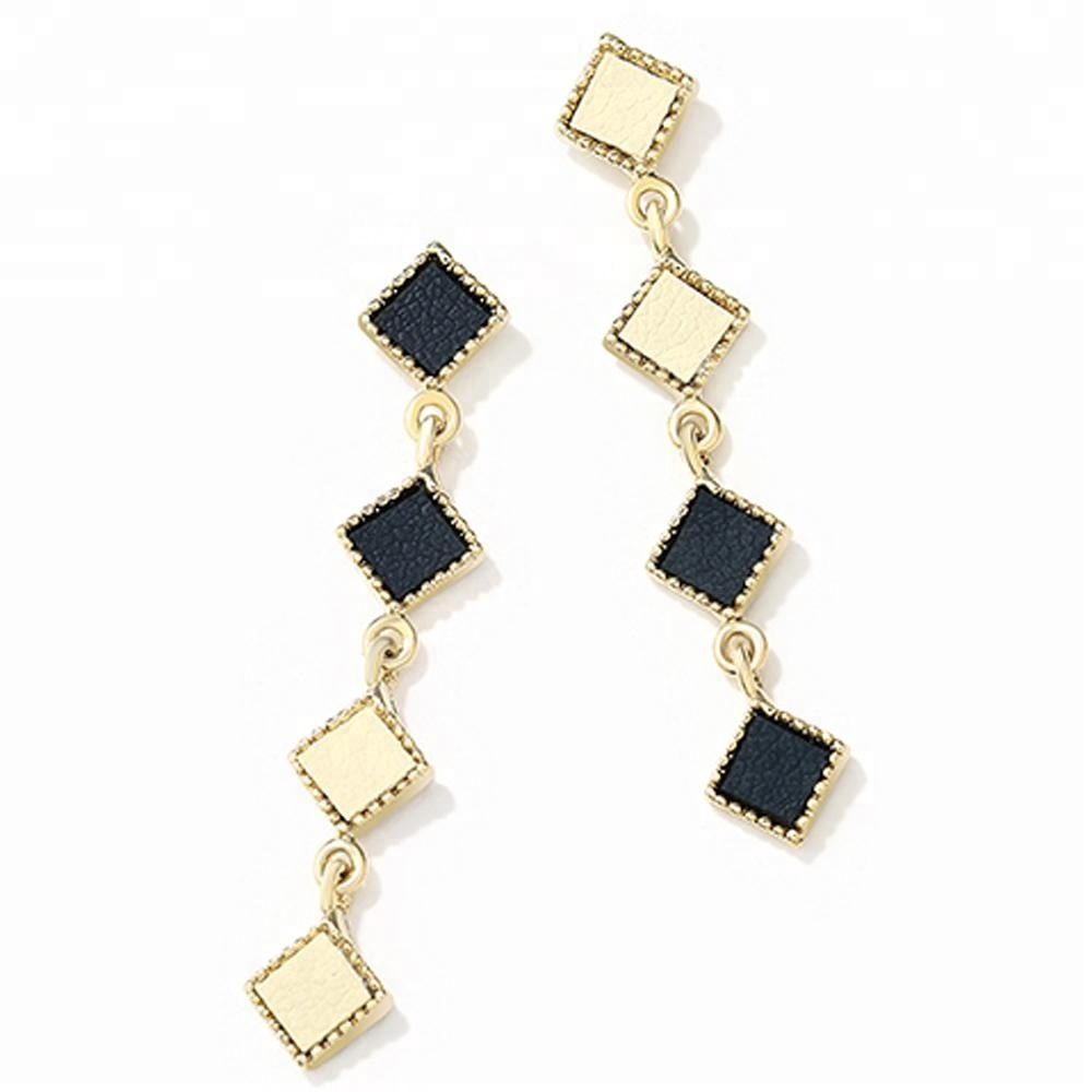 View Larger Image 2018 New Costume Jewelry Hongkong Design Leather Charm Chandeliers Earrings