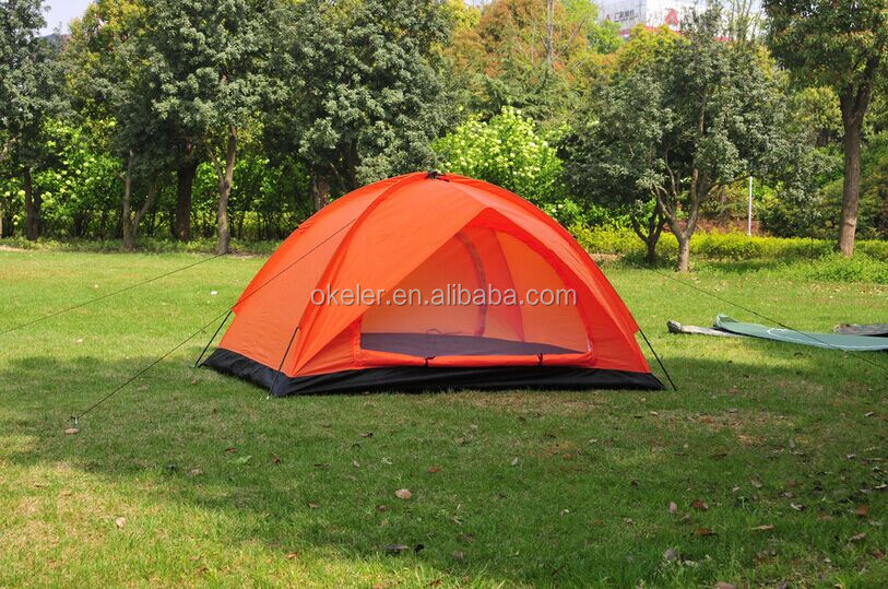 2017 new 4 Person 2 Layer camping tent,outdoor tent with With Fiberglass Pole