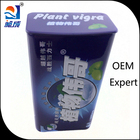 Plant vigra male enhancement pills box empty tin container with hinge
