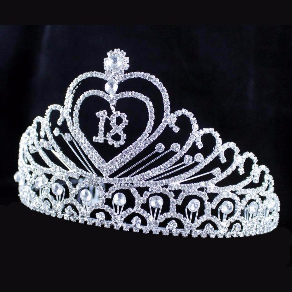 Eighteen Years Old 18th Birthday Party Rhinestone Tiara