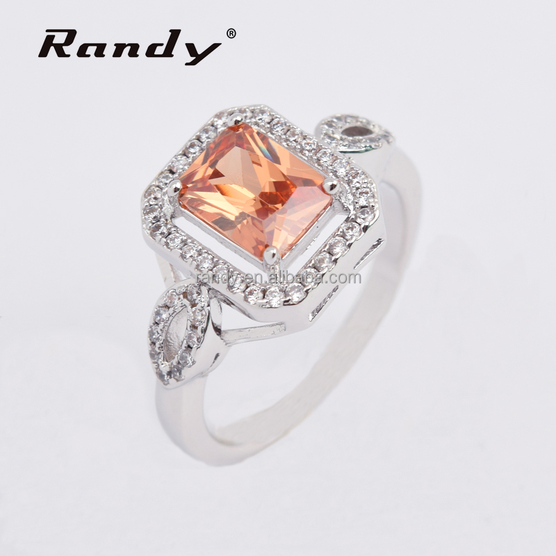 Champagne Crystal Zircon Diamond Rings Jewelry Turkish Man Ring