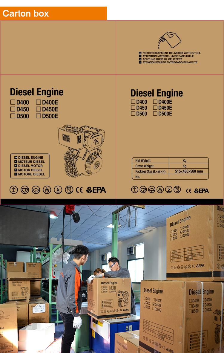 ทำงานได้อย่างราบรื่น 4hp 10hp ดีเซล 1 กระบอกสูบเครื่องยนต์ขนาดเล็ก