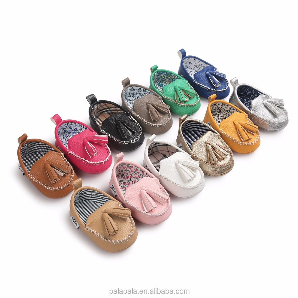 48af04bc0a6c6 Frange bébé fille berceau chaussures mary jane chaussons pu cuir glands bébé  mocassins