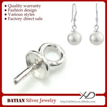 Xd P140 Small 925 Sterling Silver Pearl Earrings Mounting