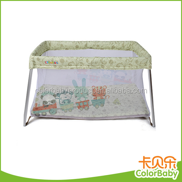 So cute light colorful easy portable travel cot