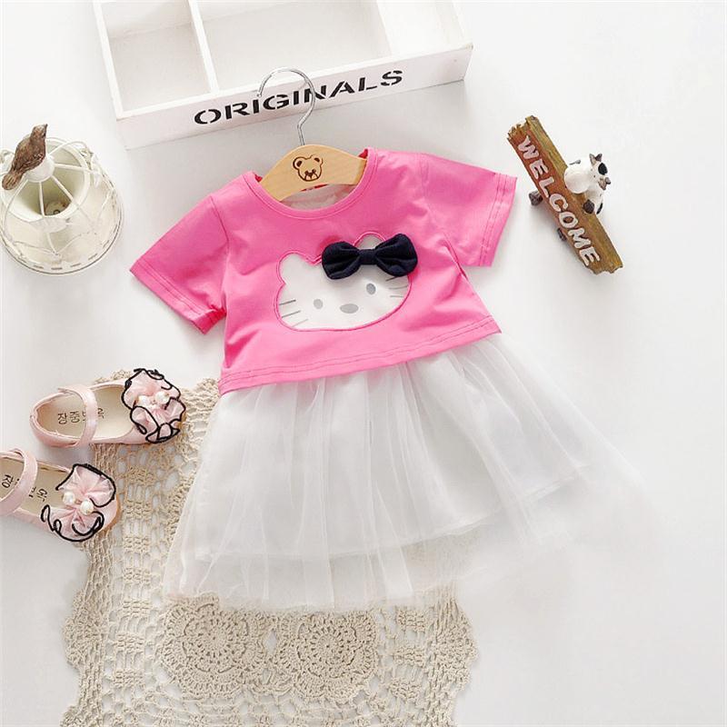 2016 Hello Kitty Niña de fantasía Forck diseños vestido de la ...