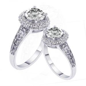 China Jewelry Wholesaler Luxury Designs Silver Diamond Engagement ring