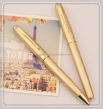 Beautiful design plastic luxury Gold advertising ball pen