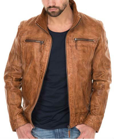 Wax Wash Leather Jacket Jackets For Man Product On Alibaba