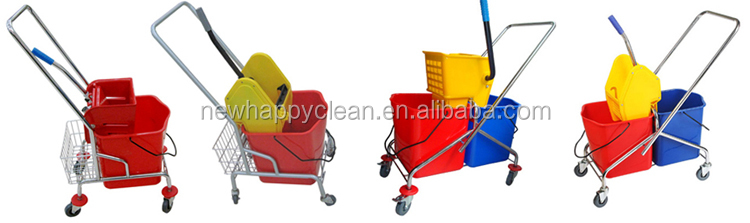 20L Industrial or home or hotel factory Square small wringer mop bucket trolley single bucket mop