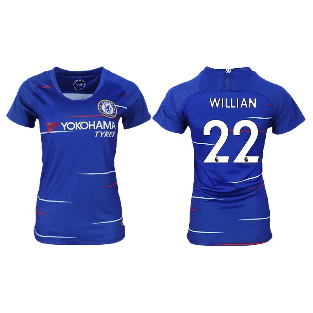 Get Quotations · Disky 2018 19 New Chelsea Willian   22 Women s Soccer  Jersey 507aa43ca