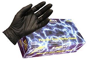 Black Lightning Disposable Nitrile Gloves - Box of 100 (XX-Large)