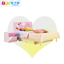 latest Hello Kitty exotic furniture 8863 kids beds girls bedroom furniture designs set with double color wardrobe