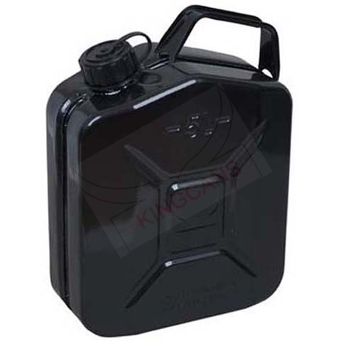 5 LITER RONDE DEKSEL JERRY CAN-BLACK
