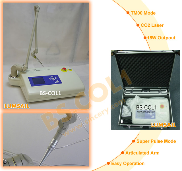 Portable co2 laser for surgical scar removal, acne scar removal machine