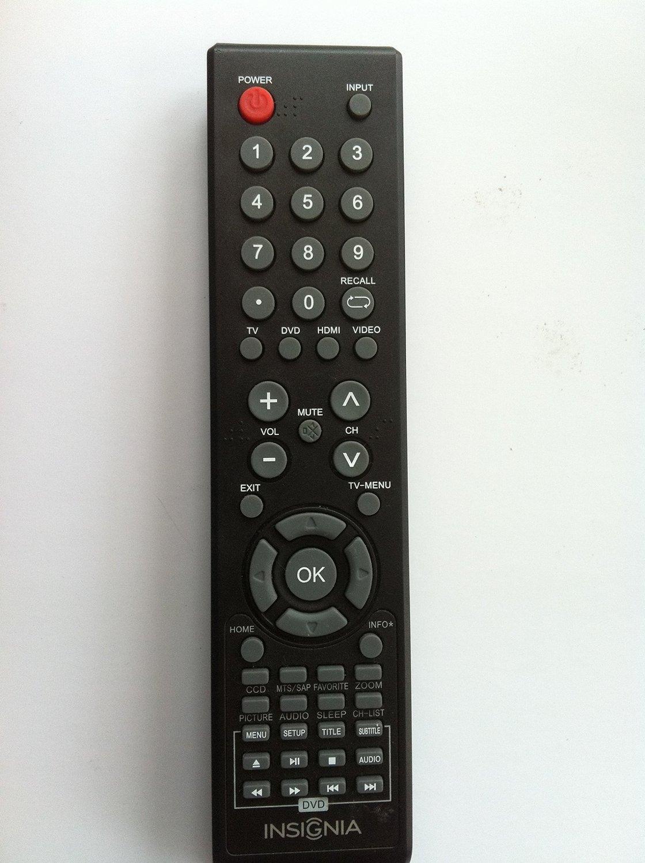 Insignia Combo DVD+TV REMOTE CONTROL For NS-28DD310NA15 NS-19ED200NA14 NS-24ED200NA14 NS-28ED200NA14 NS-32DD200NA14 NS-20ED310NA15 NS-24ED310NA15 NS-32DD310NA15 LCD LED TV