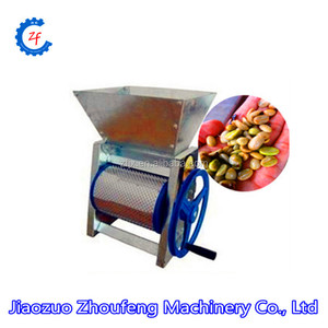 100kg/h Capacity Factory Price Manual Operation Fresh Cocoa Sheller Coffee Bean Huller Coffee Pulper Machine