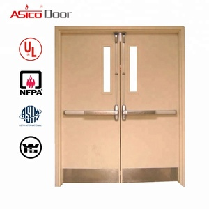 UL Listed Hot Design Fire Rated Hollow Metal Hospital Door For Safety