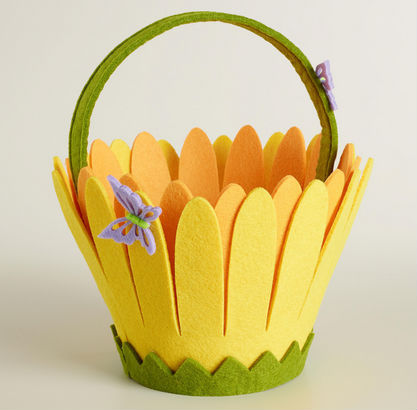 hot sale hight quality new product promotion holiday gift handicraft felt handmade easter buckets craft for easter