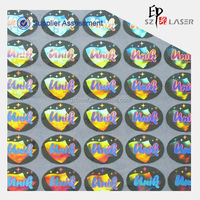 Pass hologram In mold label sticker with logo