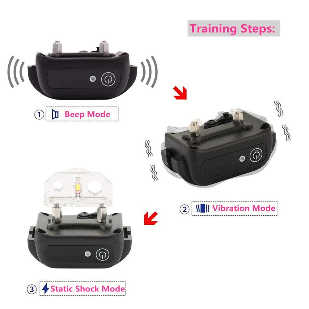 Factory Price Waterproof Rechargeable Electric Pet Dog Training Collar With Remote Rechargeable and Waterproof