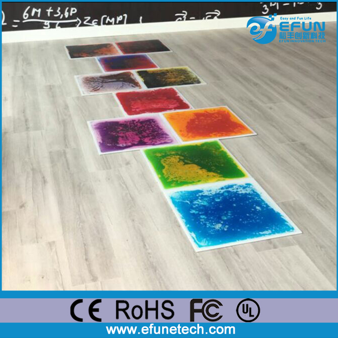 eco friendly PVC playground liquid floor mat decorating liquid 3d floors indoors