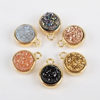 China Wholesale druzy charm pendant for jewelry DIY