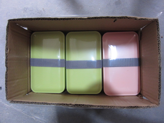 950ML bamboo fiber biodegradable double layer leak-proof lunch bento box