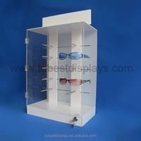 Shenzhen factory exhibition 5 tiers locking sunglass display/acrylic eyewear display stand/acrylic sunglass stand