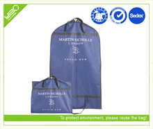 Customized logo reusable storage foldable garment suit bag/suit cover