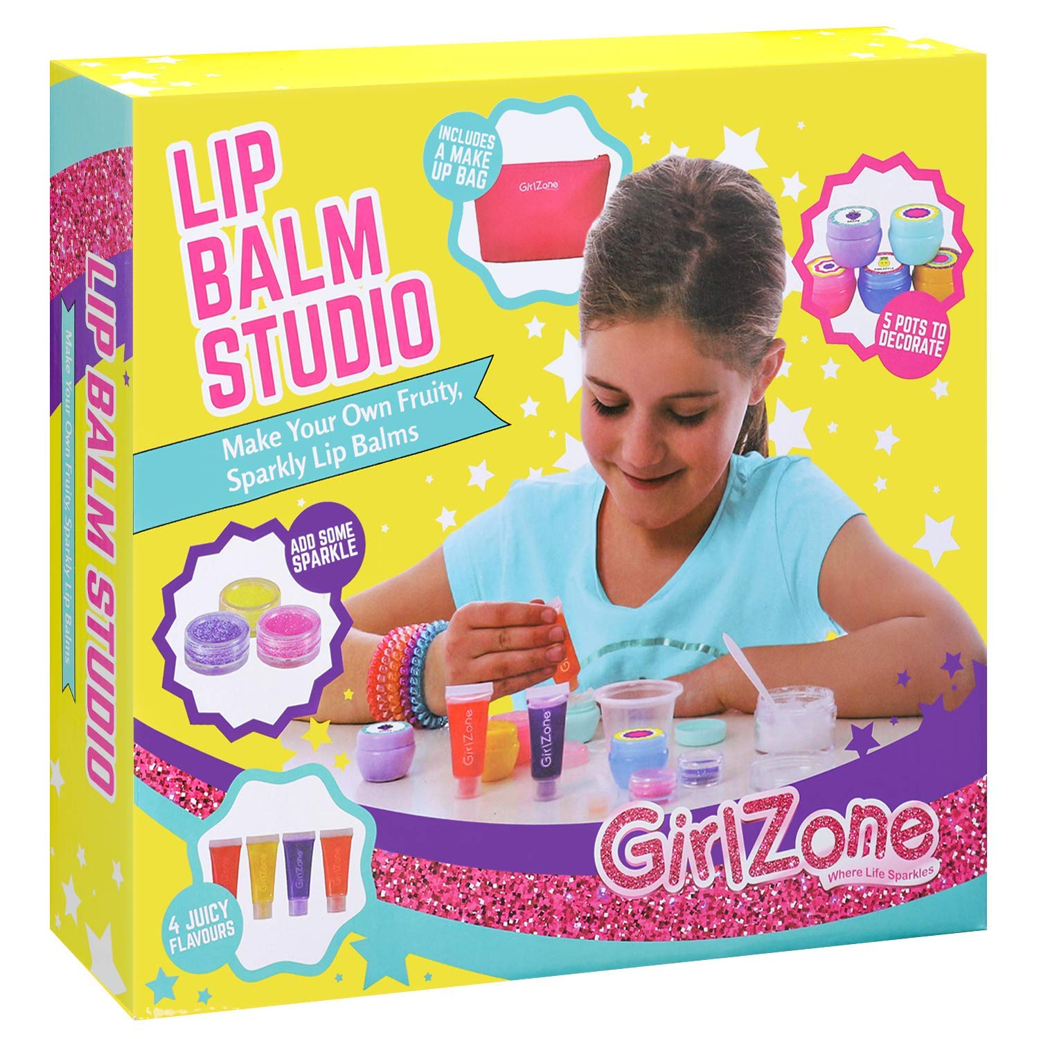 Get Quotations GirlZone Gifts For Girls Make Your Own Lip Balm Kit With This 22 Piece Makeup