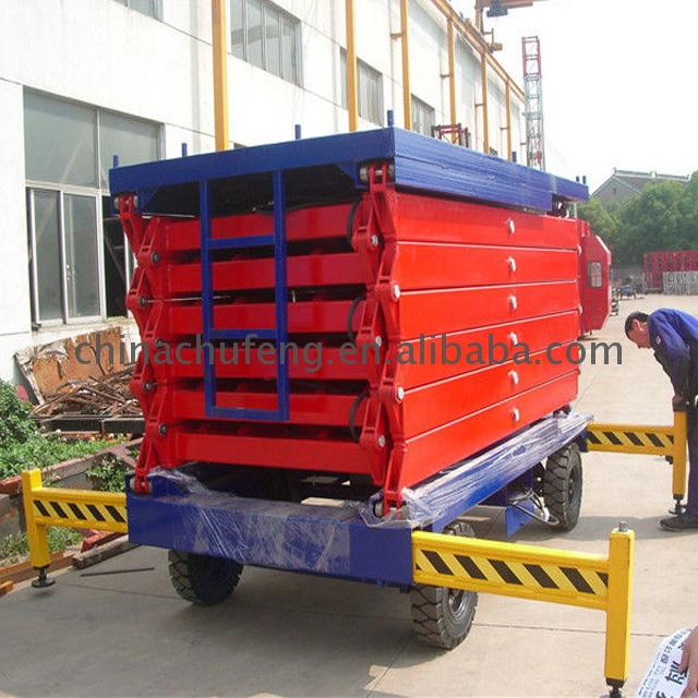 Long life 6m 300kg capacity mobile slab scissor lift 6 m self-propelled electric 500kg elevating