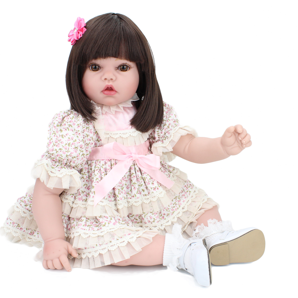 22 inches reborn baby dolls girl cute reborn babies doll gentle