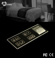 Easy operation electrical glass touch screen keypad light switch with LED backlight indication