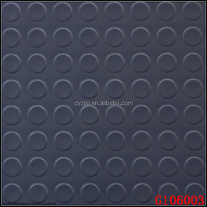 Black-Dots and Embossed Rubber PVC Sheet Floor