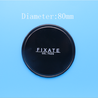 Clear and round dashboard Gel pads fixate without logo